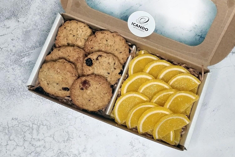 """""""Овсяное Печенье, Мармелад Дольки"""", коробка набор сладостей"""