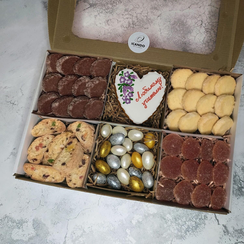 Любимому Учителю 3, подарочный набор сладостей