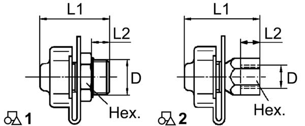 Контрольный разъем c внутр. резьбой 22