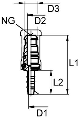 Разъемный переходник Voss 232 под 6 трубку