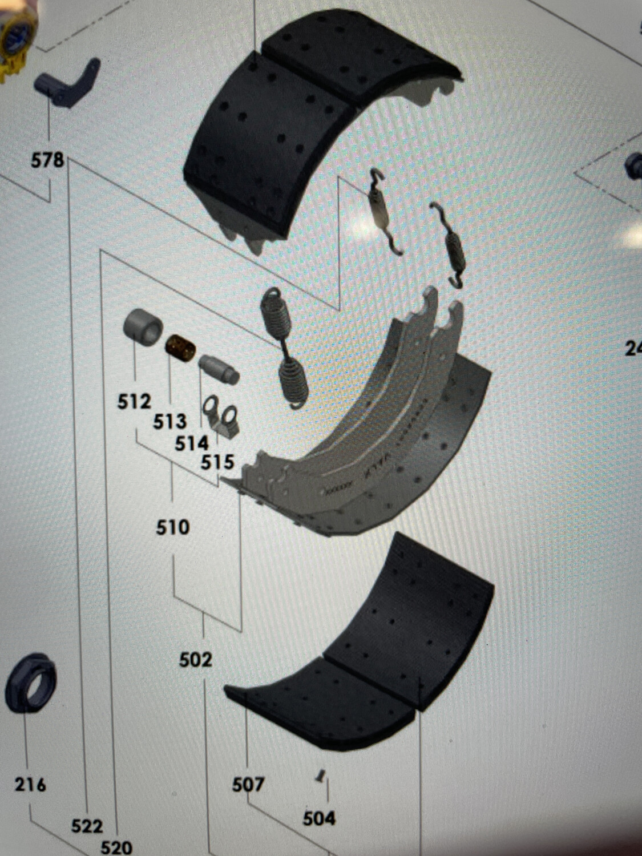Тормозные колодки с накладками Valx
