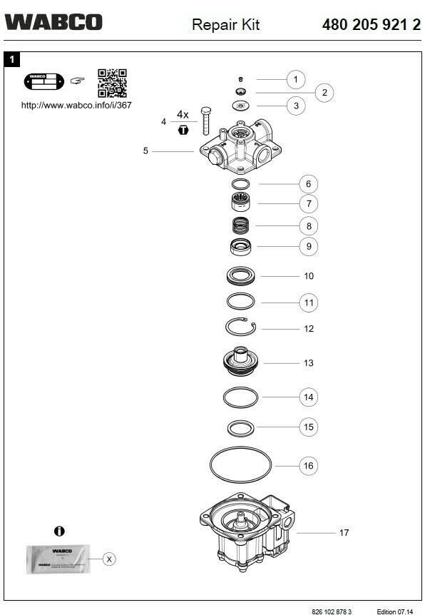 Ремкомплект магнитного клапана
