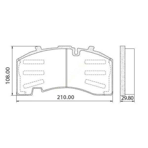 Тормозные колодки 29171 SAF/BPW/Schmitz