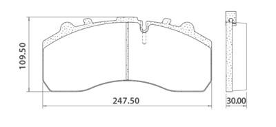 Тормозные колодки 29087