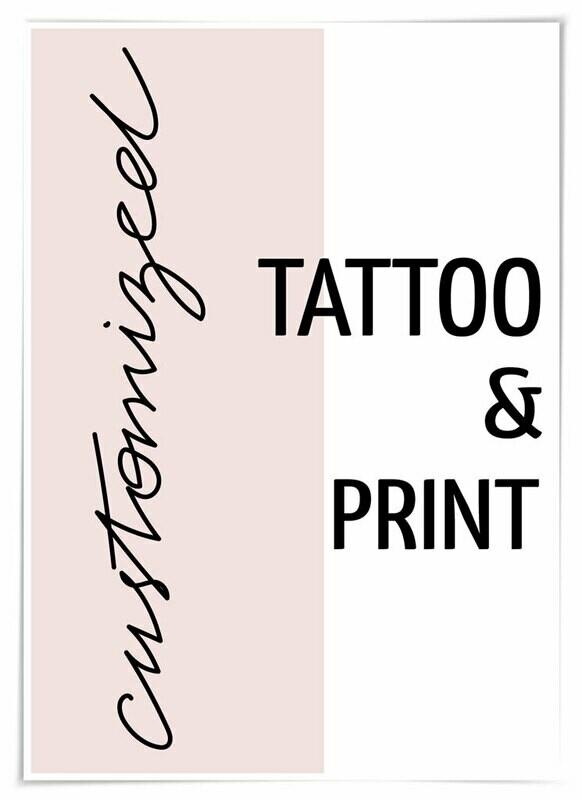 customized TATTOO & PRINT