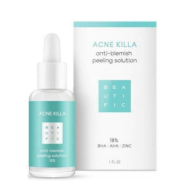 Beautific Acne Killa Anti-Blemish Peeling Solution Пилинг для лечения акне 18% с салициловой кислотой и цинком
