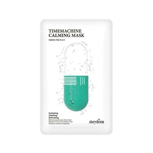 Storyderm Timemachine Calming Mask Успокаивающая тканевая маска с пантелом