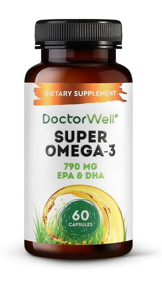 DoctorWell Omega-3 Super БАД Исландский рыбий жир в капсулах