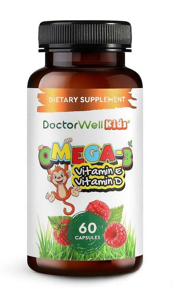 """DoctorWell Omega-3 Kids БАД """"Комплекс детский Омега-3 с витаминами Е и Д"""""""