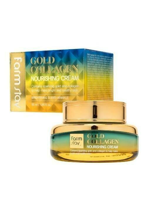 FarmStay Gold Collagen Nourishing Cream Питательный крем с золотом и коллагеном