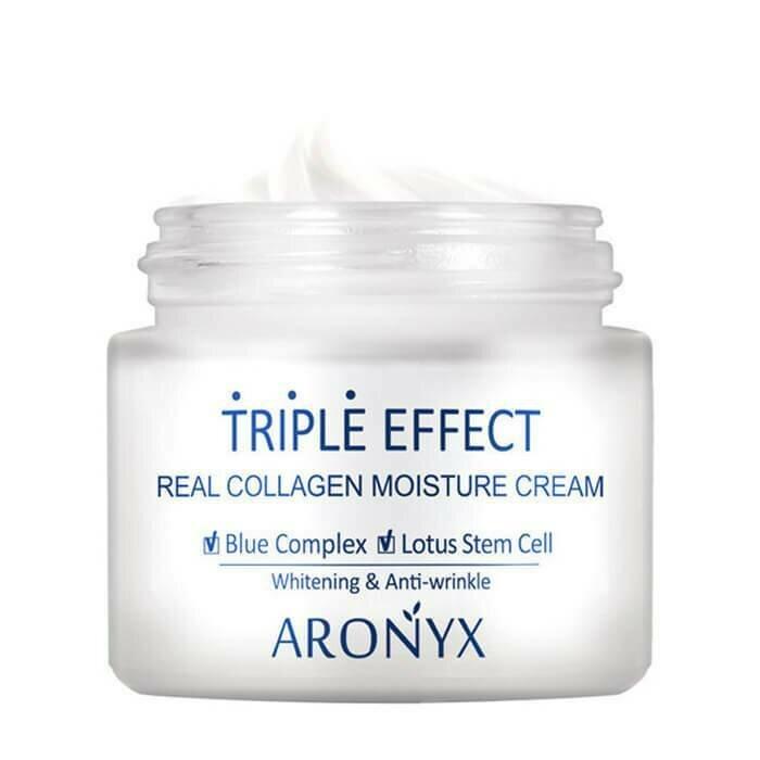Medi Flower Aronyx Triple Effect Real Collagen Moisture Cream Крем для лица с морским коллагеном