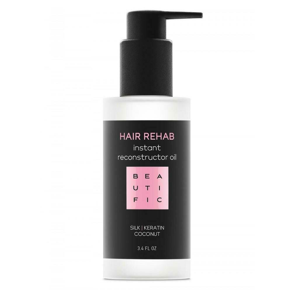 Beautific Hair Rehab Instant Reconstructor Oil Восстанавливающее масло для поврежденных волос с кератином и шелком
