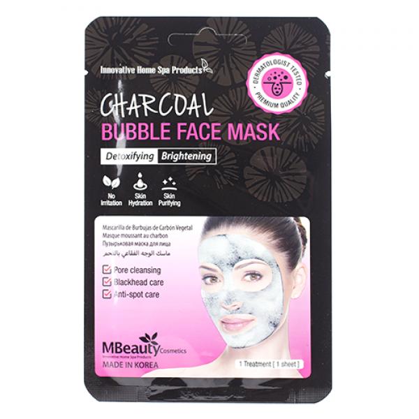 MBeauty Charcoal Bubble Face Mask Очищающая пузырьковая маска для лица с древесным углем