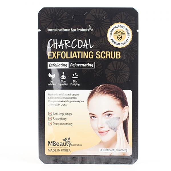 MBeauty Charcoal Exfoliating Scrub Глубоко очищающий гель-скраб с древесным углем