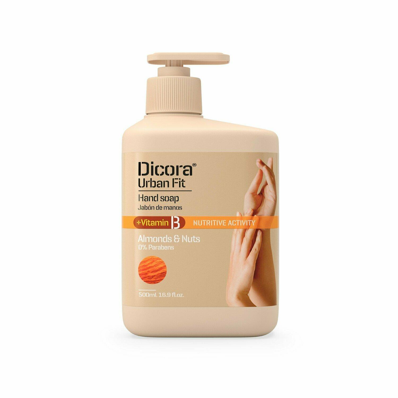"Dicora Urban Fit Hand Soap Vitamin B ""Almonds & Nuts"" Крем-мыло для рук ""Миндаль и Грецкий орех"""