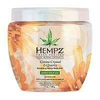Hempz Citrine Crystal & Quartz Herbal Body Buff Скраб для тела интенсивный с мерцающим эффектом Желтый Кварц