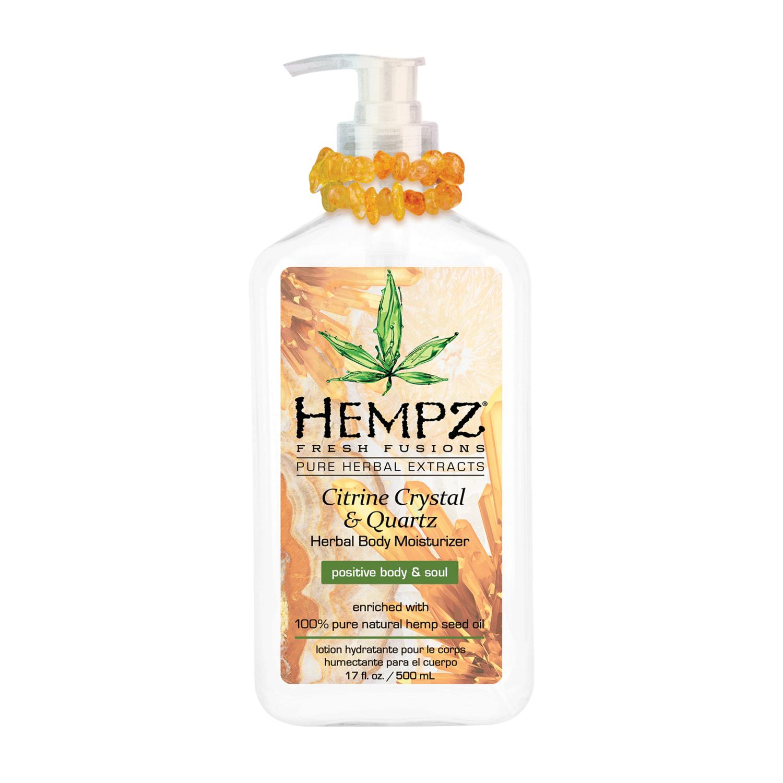 Hempz Citrine Crystal & Quartz Body Moisturizer Молочко для тела увлажняющее с мерцающим эффектом Желтый Кварц