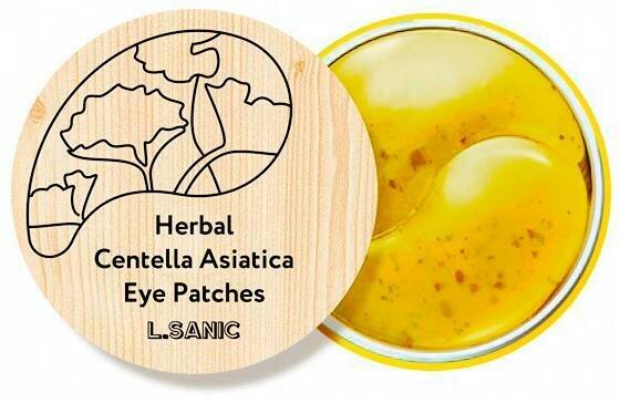 L.Sanic Herbal Centella Asiatica Hydrogel Eye Patches Гидрогелевые патчи с экстрактом центеллы