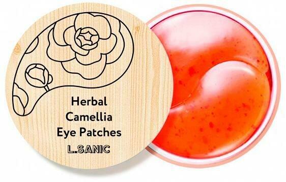 L.Sanic Herbal Camellia Hydrogel Eye Patches Гидрогелевые патчи с экстрактом камелии