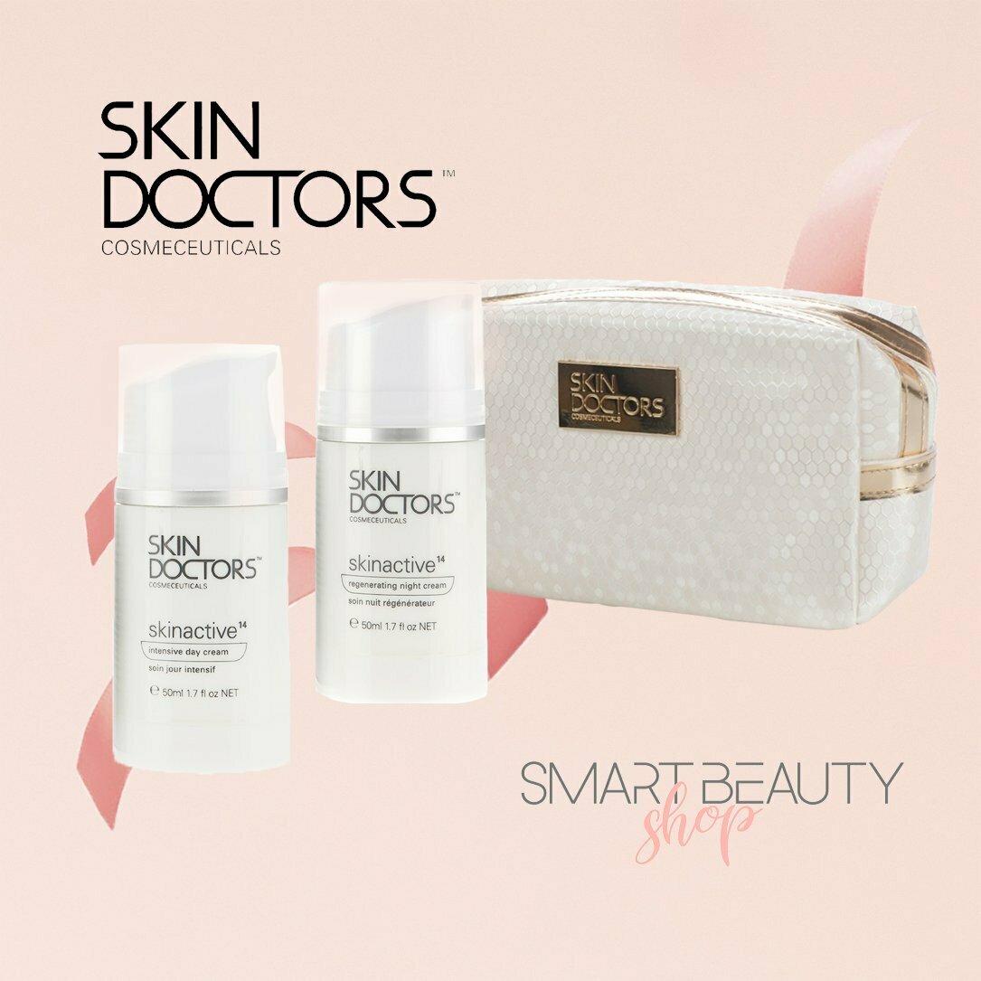 Skin Doctors Skinactive14™ дневной и вечерний уход + косметичка в подарок