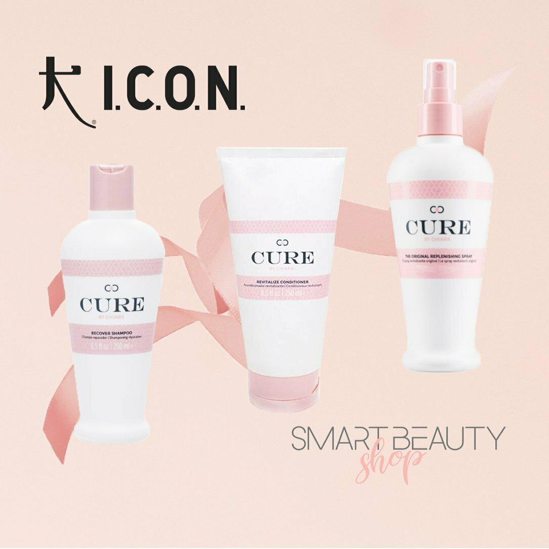 ICON Cure by Chiara Trio Campaign Набор шампунь, кондиционер, спрей