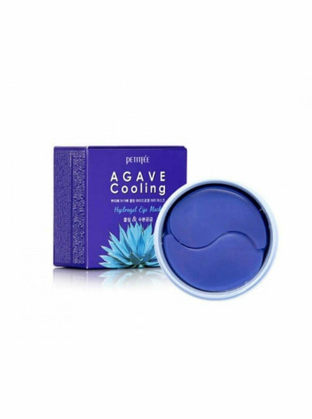 Petitfee Agave Cooling Hydrogel Eye Mask Гидрогелевые патчи для глаз с охлаждающим эффектом