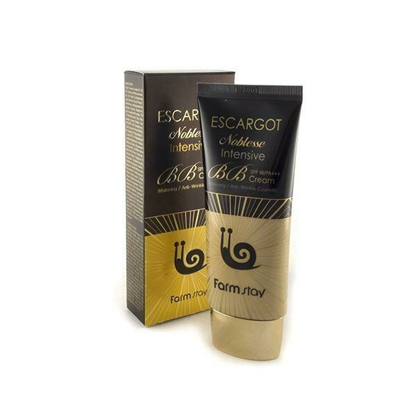 FarmStay Escargot Noblesse Intensive BB Cream SPF 50+/PA+ ББ крем для лица с муцином королевской улитки