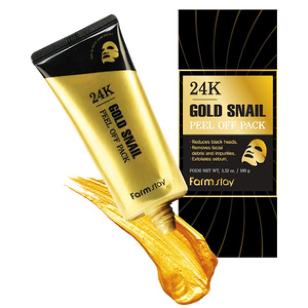 FarmStay 24K Gold Snail Peel Off Pack Маска-пленка с золотом и муцином улитки