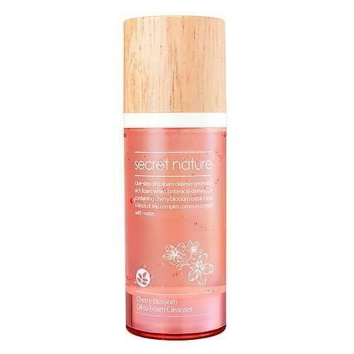 Secret Nature Cherry Blossom Oil to Foam Cleanser Гидрофильное масло-пенка для умывания с вишней