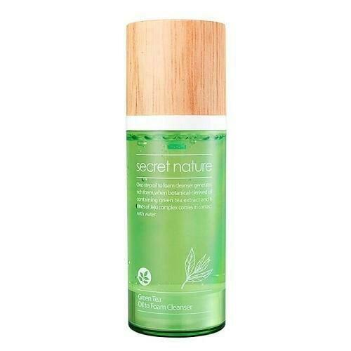 Secret Nature Green Tea Oil to Foam Cleanser Гидрофильное масло-пенка с зеленым чаем