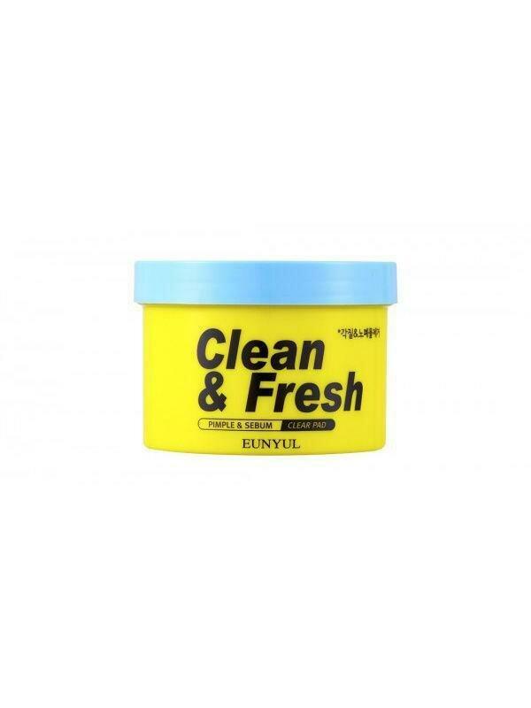 Eunyul Clean & Fresh Pimple & Sebum Clear Pad Очищающие диски с кислотами