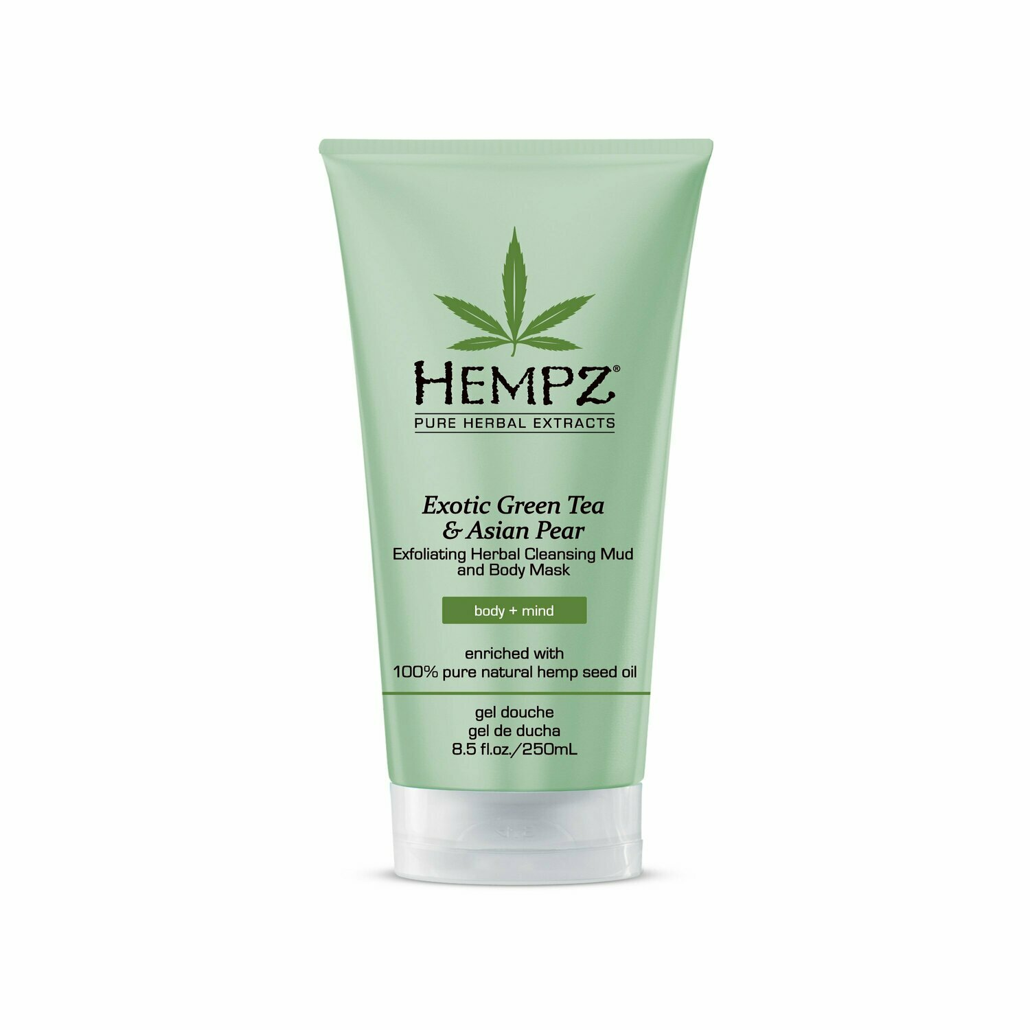 Hempz Exfoliating Herbal Cleansing Mud and Body Mask каолиновая маска-скраб