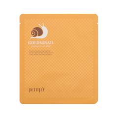 Petitfee Gold & Snail Hydrogel Mask Гидрогелевая маска с золотом и улиточным муцином