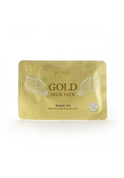 Petitfee Gold Neck Pack Гидрогелевая маска для шеи