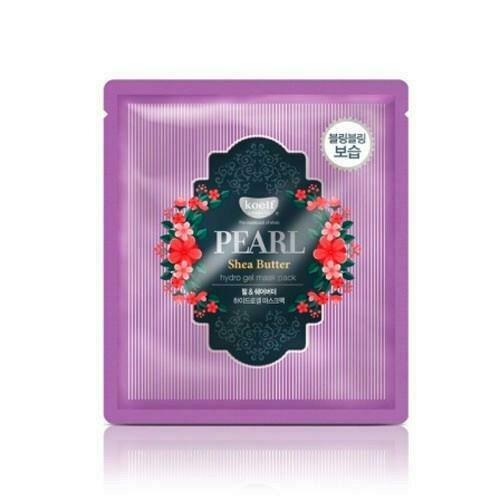 Koelf Pearl & Shea Butter Гидрогелевая маска для лица с жемчужной пудрой и маслом ши