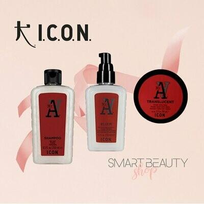 ICON Mr. A Trio Campaign мужской шампунь, флюид и воск в боксе