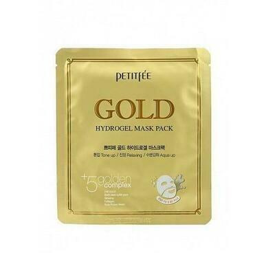 Petitfee Gold Hydrogel Mask Pack Гидрогелевая маска для лица с коллоидным золотом
