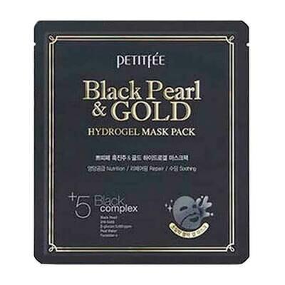 Petitfee Black Pearl & Gold Mask Гидрогелевая маска для лица c черным жемчугом и золотом