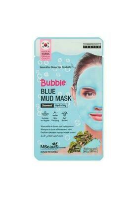 MBeauty Bubble Blue Mud Mask Увлажняющая очищающая пузырьковая маска для лица с глиной и морскими водорослями