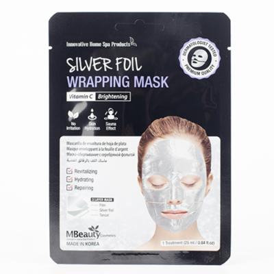 MBeauty Silver Foil Wrapping Mask Восстанавливающая серебряная фольгированная маска для лица с витамином С