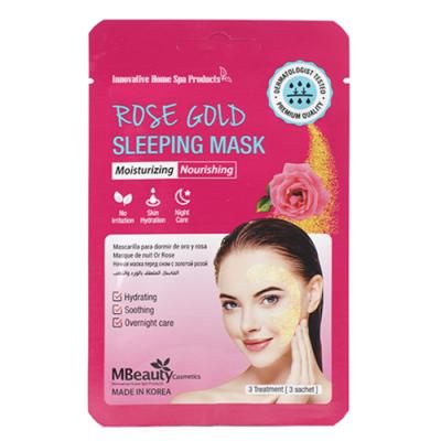 MBeauty Rose Gold Sleeping Mask Увлажняющая ночная маска с розовой водой
