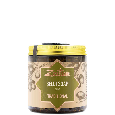 "Zeitun Authentic Traditional Moroccan Beldi Soap Detox & Revival with Olive Oil & Eucalyptus Бельди традиционное марокканское ""Олива"" для всех типов кожи"