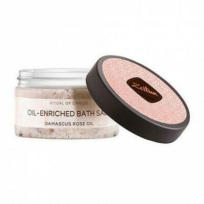 Zeitun Ritual Of Caress Oil-Enriched Balt Salt Ароматическая соль для ванн с дамасской розой и маслом персика