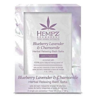 Hempz Blueberry Lavender & Chamomile Herbal Relaxing Bath Salts Соль для ванны расслабляющая Лаванда, Ромашка и Дикие Ягоды