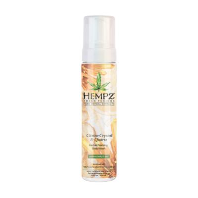 Hempz Citrine Crystal & Quartz Herbal Foaming Body Wash Гель-мусс для душа  Желтый Кварц