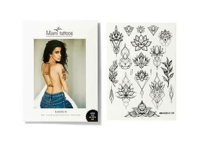 Miami Tattoos Lotus by SashaTattooing Studio Переводные тату
