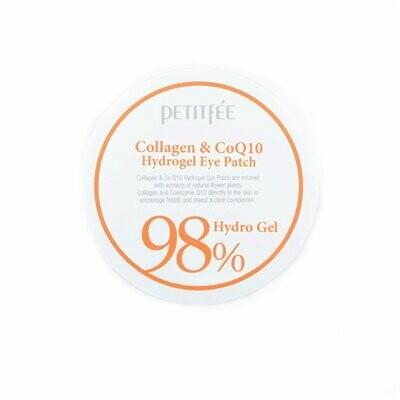 Petitfee 98% Collagen & CoQ10 Гидрогелевые патчи для глаз (30 пар)