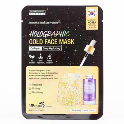 MBeauty Holographic Gold Collagen Face Mask Голографическая золотая маска для лица с коллагеном