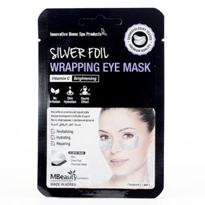 MBeauty Silver Foil Wrapping Eye Mask Восстанавливающие серебряные фольгированные патчи с витамином С