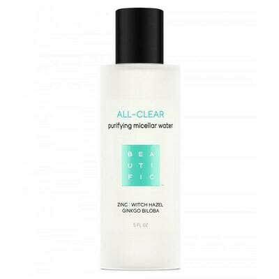Beautific All-clear Purifying Micellar Water Мицеллярная вода для жирной и проблемной кожи с цинком, гингко билоба и гаммамелисом